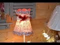 comment fabriquer un abat-jour conique en forme de chapeau ☆ LOISIRS CREATIFS
