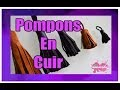 DIY. Comment Faire Des Pompons En Cuir//How To Make Leather Tassels
