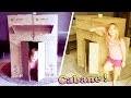 Construction d'une grande cabane de princesse en carton dans le salon !
