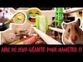 AIRE DE JEUX GEANTE POUR HAMSTER !! - TOOPET