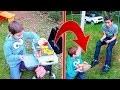 BARBECUE MAGIQUE ! - Il faut toujours être gentil avec son frère - Kids Pretend Play Barbecue