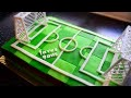 Gateau d'anniversaire Terrain de Foot/ cake design pate à sucre