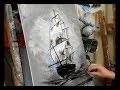 COURS DE PEINTURE: Le Voilier dans la tempête par Nelly LESTRADE (KNIFE PAINTING)