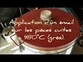 Emaillage et cuisson de céramiques en grès