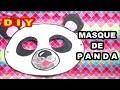 Masque de panda : Fabrication masque d'animaux pour Carnaval