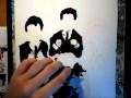 dessin beatles encre de chine