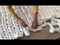 DIY Tutoriel: tricoter une couverture XXL avec les mains en laine merinos SuperComfy