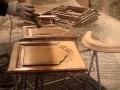 Sablage pièces de bois
