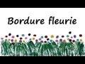 Décoration de classe: Bordure fleurie