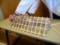 Stabilité d'une structure - Maquette didactique de charpente