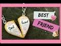 Tuto Fimo I Best friend, pendentif amitié