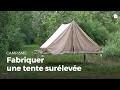 Fabriquer une tente surélevée droite | Construire des installations en forêt