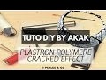 [TUTO] Création Collier Ethnique DIY Plastron Polymer Clay / Fimo Cracked Effect Akak Perles & Co