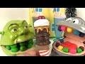 Play Doh Dentiste Shrek mange des glaces avec le singe