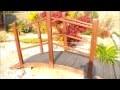 to create a japanese garden, creer un jardin japonais(fabriquer un pont)