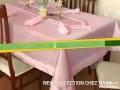Les napes des tables