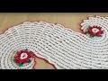 Tuto chemin de table Spirale ou tapis au crochet spécial gaucher