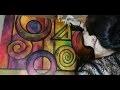 """""""Partie de Cache-Cache"""" - Peinture Acrylique Abstraite"""