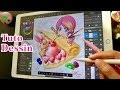 TUTO DESSIN Fraisie crêpe | Comment j'illustre au crayon à papier + couleur iPad Pro Apple Pencil