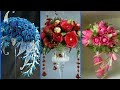 Beautiful Glass Flower Arrangement Stylish Glass Decoration