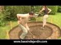 Construction d'un bassin de jardin avec cascade
