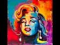 Peinture Marilyn Monroe