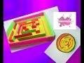 DIY. Des jeux labyrinthe en carton ondulé. Activité pour enfants.