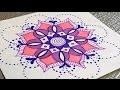 Faire des Mandalas et coloriage ? Draw an easy mandala
