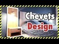 CREATION DE CHEVETS / TABLE DE NUIT DESIGN EN BOIS MASSIF