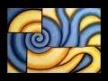 "Peinture Acrylique Abstraite - ""Nautilus"""