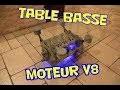 Pour 100€ je fabrique une table basse à partir d'un moteur V8