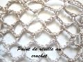 TUTO POINT DE RESILLE AU CROCHET OU FILET AU CROCHET