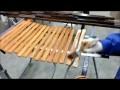 Fabrication des volets en bois.