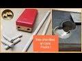 Fabrication de chevilles en bois + gabarit perçage