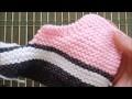 """DIY-Tuto tricot-PART 3/4-Chaussons """"Basket Converse"""" bébé/enfant [FACILE!]"""