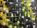 Ombres Jaunes - Peinture Acrylique Abstraite Facile
