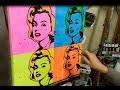 "LE TABLEAU DE WARHOL ""MARYLIN"" A MA FACON (Acrylique POP ART de SENNELIER)"