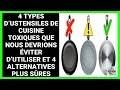 4 ustensiles de cuisine toxiques que nous devrions éviter d'utiliser et 4 alternatives plus sûres