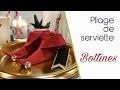 "Tutoriel : pliage de serviette ""Bottines de lutin"""