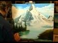 Cesar Denis, Peinture, montagnes, paysage, Style Bob Ross