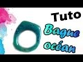 TUTO FIMO/POLYMÈRE: BAGUE OCÉAN | PolymerClay Tutorial Blue ocean
