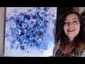 Bouquet de Fleurs Monochrome - Peinture Acrylique Facile