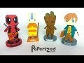 Figurines en papier : Deadpool, Avatar, Baby Groot, Newt Scamander | Papercraft DIY