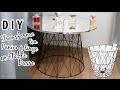 DIY Transforme un Panier à linge en Table basse