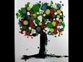 Tutos acrylique Mixed Média : faire un tableau en mix media