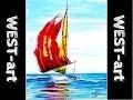 marine n°21 voilier (acrylique)