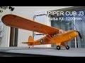 Construction et premiers vol Piper Cub Balsa.