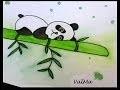 Panda Roux Aquarelle Galerie Creation