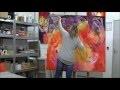 Démonstration de peinture abstraite par Jadis 3