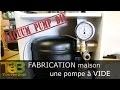 Fabrication maison d'une pompe à vide - how to make a vacuum pump from a old refrigerator compressor
